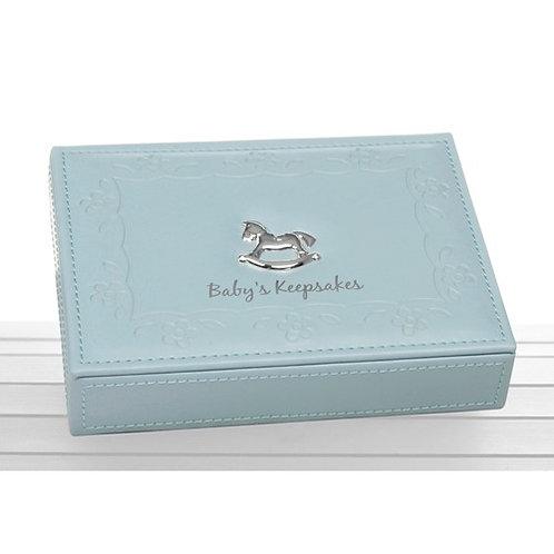 Faux Leather Baby's Keepsake Box