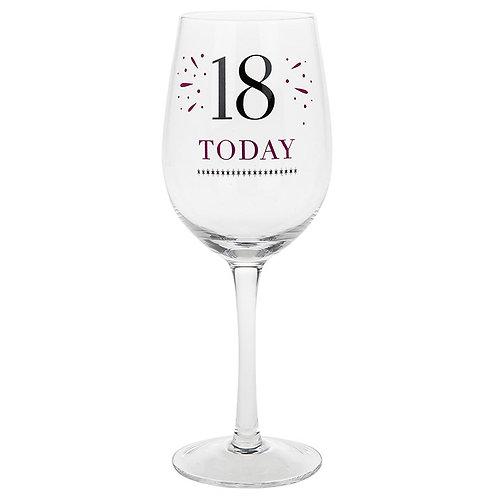 Verve Birthday Wine Glass 18