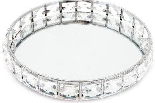 Silver Glitzy Mirror Tray