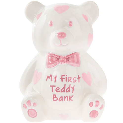 My First Teddy Bank -  Pink