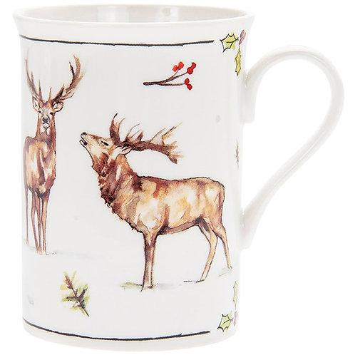Winter Stag Boxed Mug