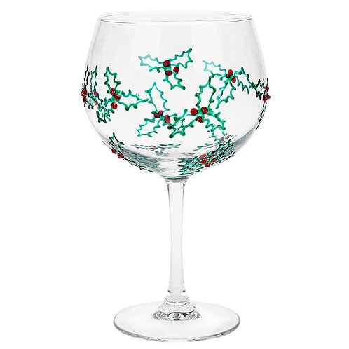 Sunny By Sue - Mistletoe Gin Glass