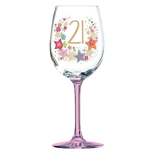Lulu Birthday Wine Glass 21