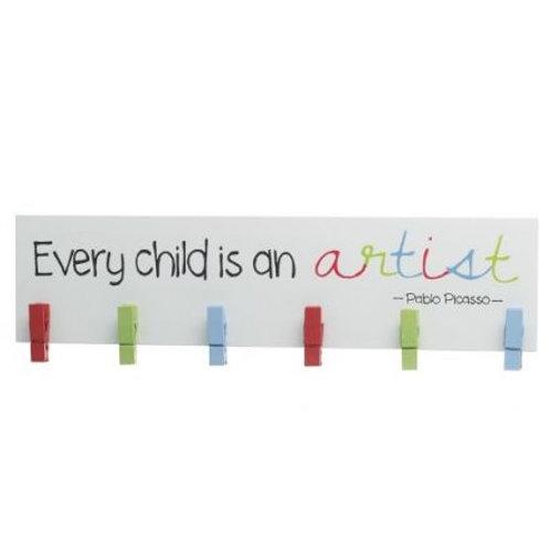 Child Artist Peg Sign