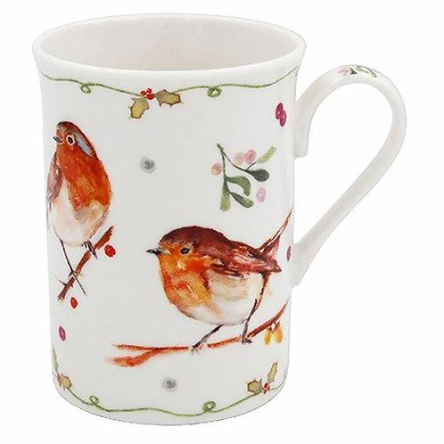 Winter Robin Boxed Mug