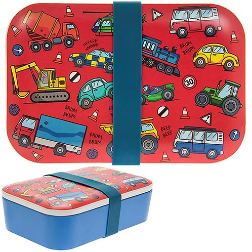 Vehicles Bamboo Lunchbox