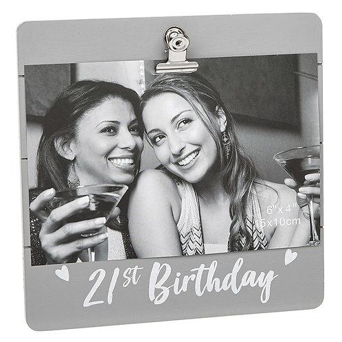 Cutie Clip Frame 21st Birthday