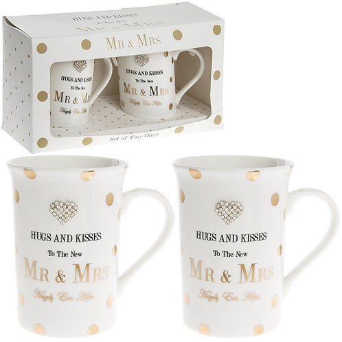 Mad Dots Mr & Mrs Mugs