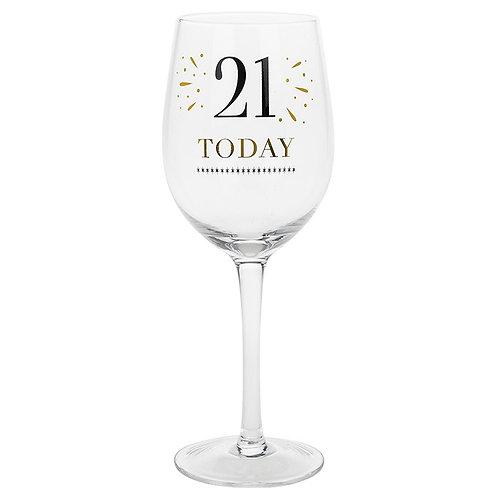Verve Birthday Wine Glass 21