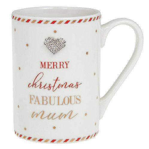 Mad Dots - Merry Christmas Fabulous Mum Mug