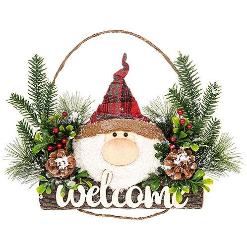 Jolly Santa  Welcome Wreath