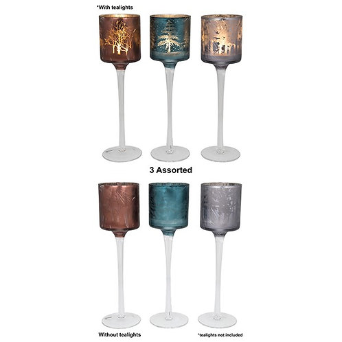 Woodland Christmas Glow Tall Candle Holder
