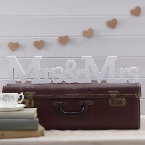 GingerRay Mrs & Mrs Wooden Sign