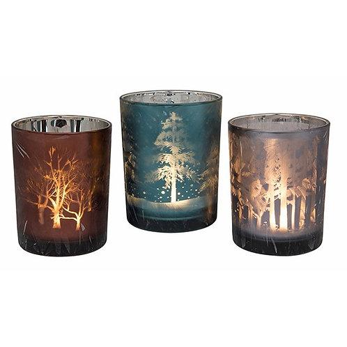 Woodland Christmas Glow CandleHolder