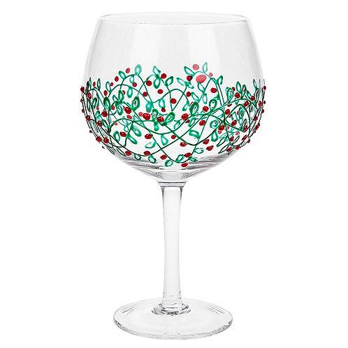 Sunny By Sue - Green Garland Gin Glass