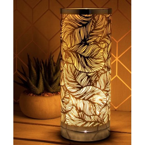 Amber Leaf Pattern Aroma Touch Lamp