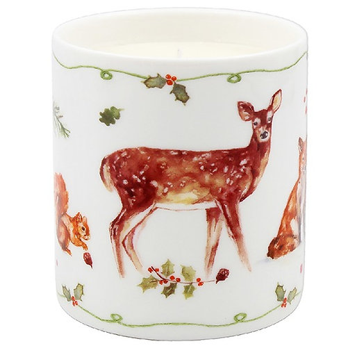 Illustrated Winter Stag Candle