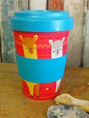 Llama Bamboo Travel Mug