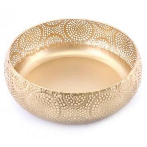 Golden Luxe Metal Bowl