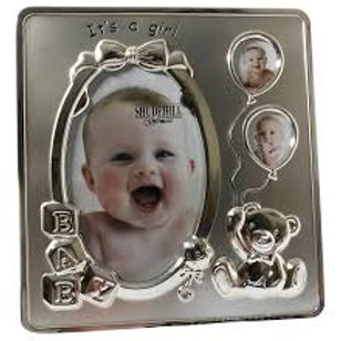 It's a Girl Silver Frame