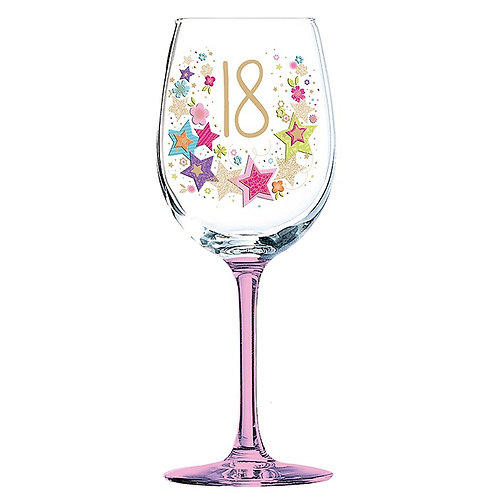 Lulu Birthday Wine Glass 18