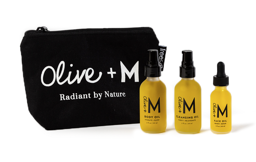 olive + M radiant by nature oil