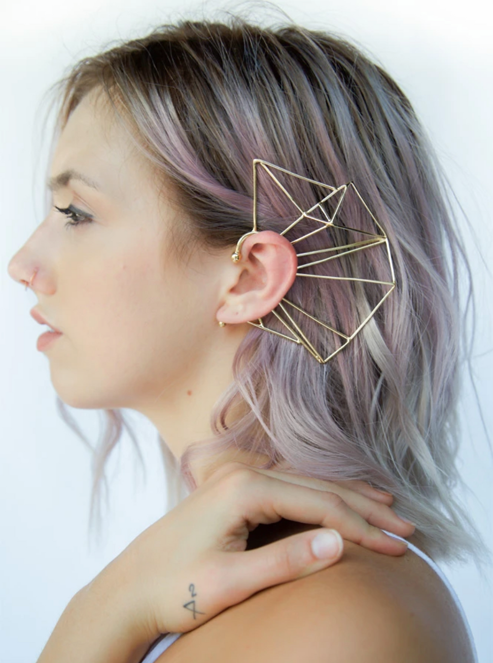 glass staircase nina berenato ear cuff
