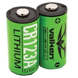 Valken Lithium 3V CR123A Battery - 2 Pack