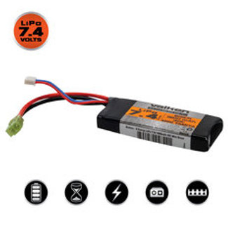 Valken LiPo 7.4v 1300mAh 30C PEQ Airsoft Battery (Small Tamiya)
