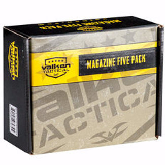 Valken 140rd Thermold Mid-Cap Airsoft Magazines - 5 Pack