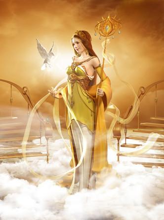 Goddess on the cloud