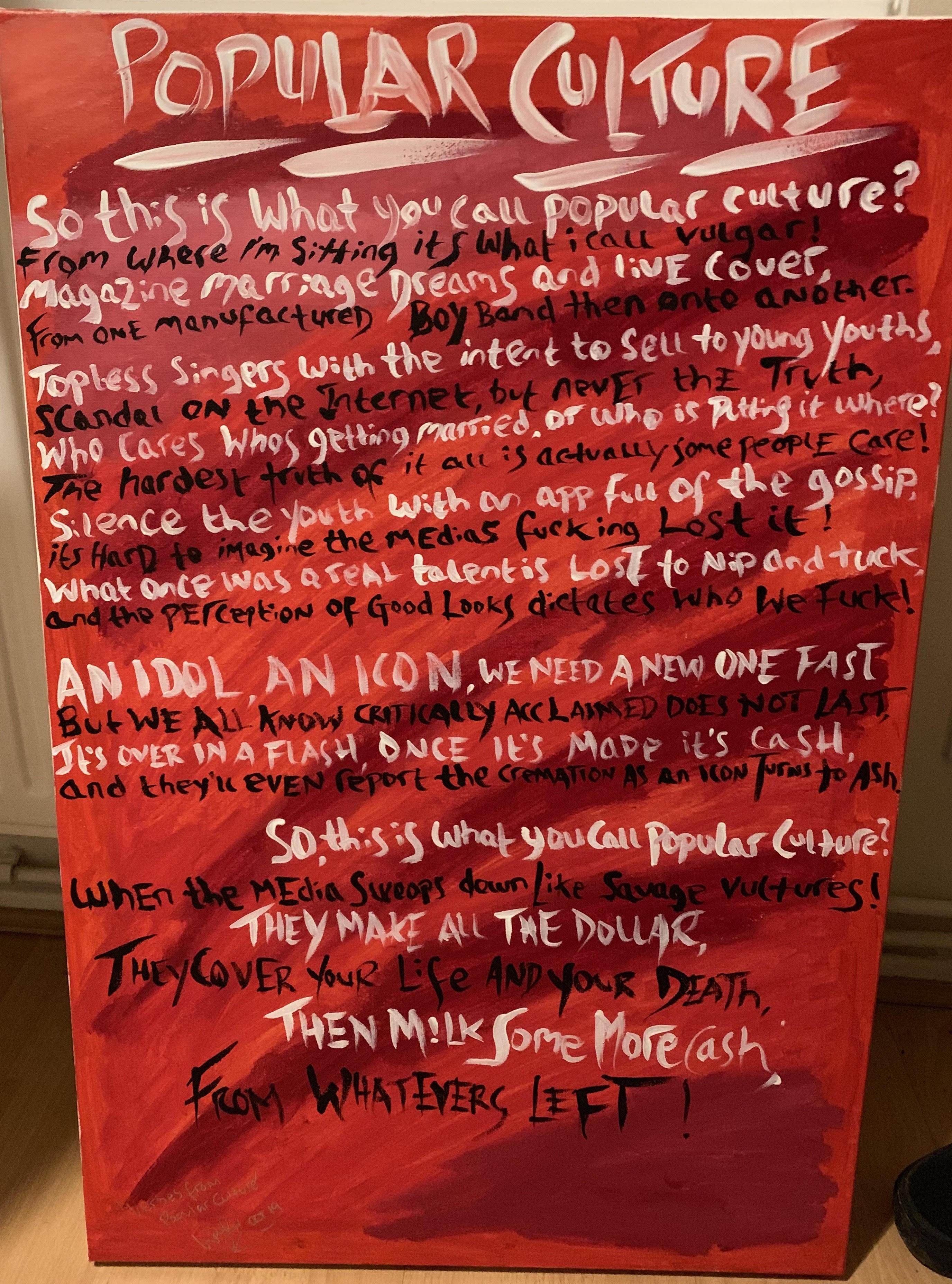 Popular Culture- Full Poem