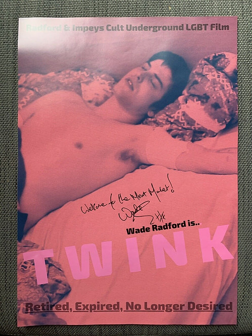 TWINK A3 HAND Signed Poster- (RARE)