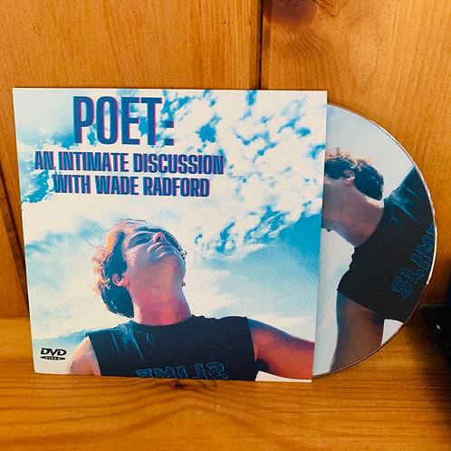 'Poet: An Intimate Discussion With Wade Radford' Cardboard DVD Screener