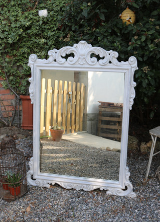 Mirror Mirror: White and Silver Crackle Glaze Makeover