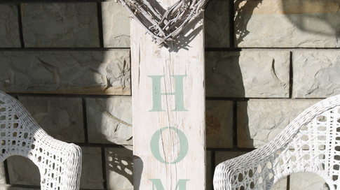 Farmhouse Plank Sign for 'Home'
