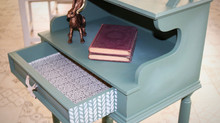 Gorgeous Green: Telephone Table Makeover