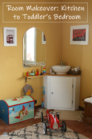 Before and After: Kitchen to Toddler's Bedroom!