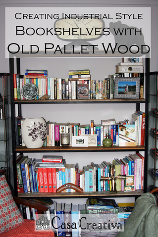 Crow bars and Chop Saws: Creating Industrial-look Book Shelves from old Pallet Wood
