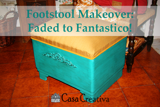 Footstool Makeover: Faded to Fantastico!