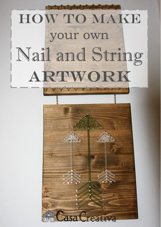 Make your own Funky Nail and String Artwork