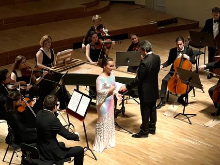 В Таллине состоялся концерт Юлии Лежневой  (сопрано) в сопровождении оркестра «Северная Венеция»