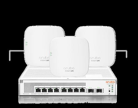 Aruba Instant On: 8G PoE Switch & 3x AP11 Bundle