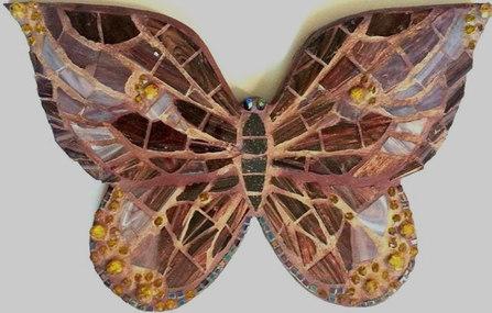 """Wand-Deko """"Schmetterling in Braun"""""""
