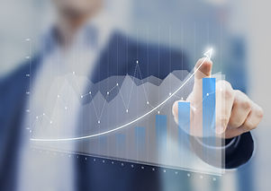 Financial charts showing growing revenue