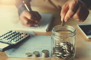 business accounting with saving money wi