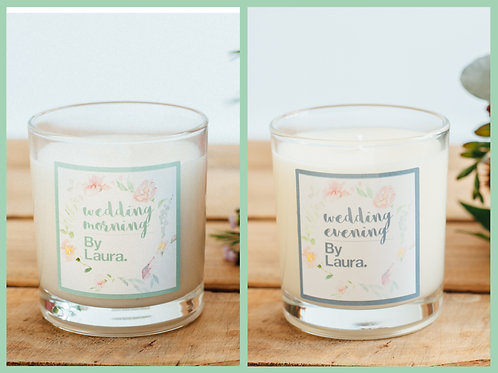 The Wedding Morning & Evening candle package.