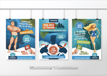 Campagne Hygiène pour le centre aquatique Palmilud