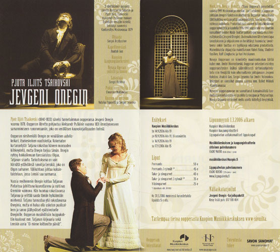 2. Jevgeni Onegin in Finland