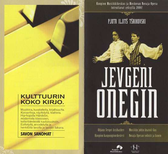 1. Jevgeni Onegin in Finland